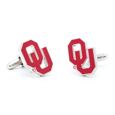 University of Oklahoma Cuff Links with complimentary Weave Texture Valet Box - UPC 825008265233