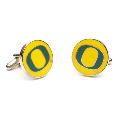 University of Oregon Cuff Links with complimentary Weave Texture Valet Box