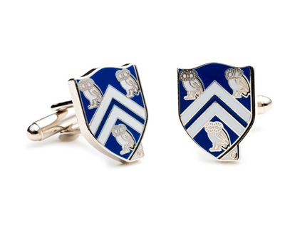 Rice University Cuff Links with complimentary Weave Texture Valet Box