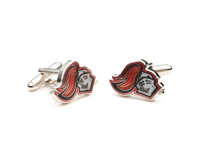 Rutgers University Cuff Links with complimentary Weave Texture Valet Box