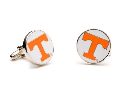 University of Tennessee Cuff Links with complimentary Weave Texture Valet Box - Men's Jewelry