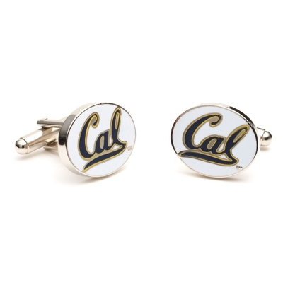 University of California Cuff Links with complimentary Weave Texture Valet Box - Tie Bars & Cuff Links