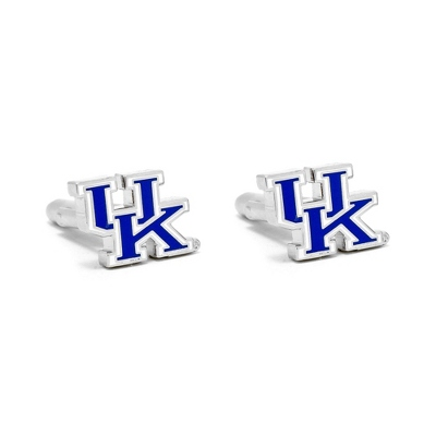 University of Kentucky Cuff Links with complimentary Weave Texture Valet Box - Tie Bars & Cuff Links