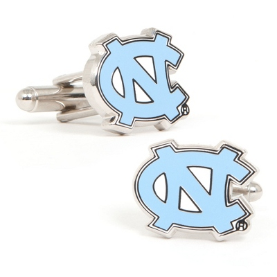 University of North Carolina Cuff Links with complimentary Weave Texture Valet Box