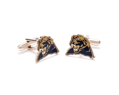 University of Pittsburgh Cuff Links with complimentary Weave Texture Valet Box - $60.00