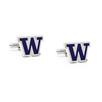 University of Washington Cuff Links with complimentary Weave Texture Valet Box - $60.00