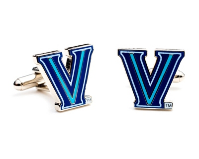 Villanova University Cuff Links with complimentary Weave Texture Valet Box - $60.00