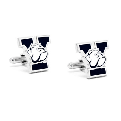 Yale University Cuff Links with complimentary Weave Texture Valet Box - Tie Bars & Cuff Links