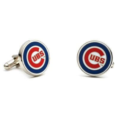 Chicago Cubs Cuff Links with complimentary Weave Texture Valet Box - $60.00