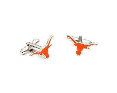 University of Texas Cuff Links with complimentary Weave Texture Valet Box - Men's Jewelry