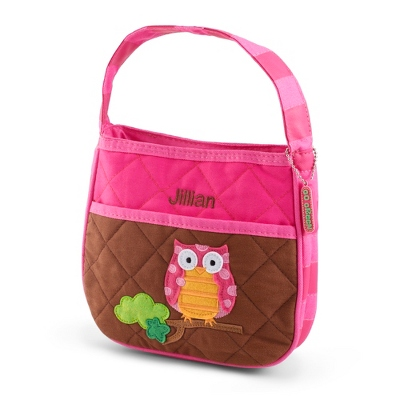 Pink and Brown Owl Purse
