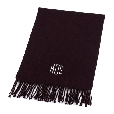 Comfy Black Scarf - Embroidered Totes & Accessories
