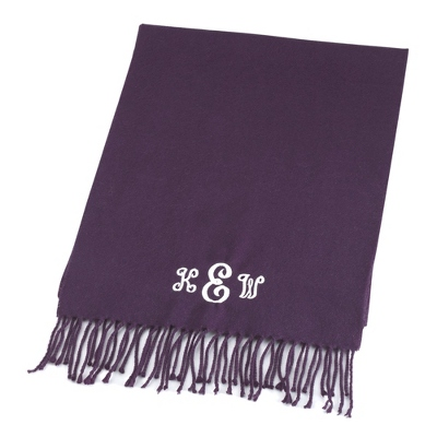 Comfy Eggplant Scarf - Embroidered Totes & Accessories