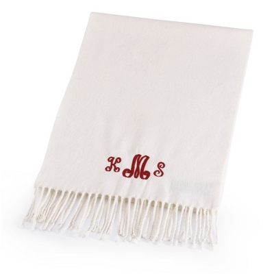 Comfy Cream Scarf - Embroidered Totes & Accessories