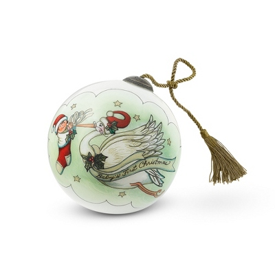 Hand Painted Baby's First Christmas Ornament - Baby Gifts for Boys