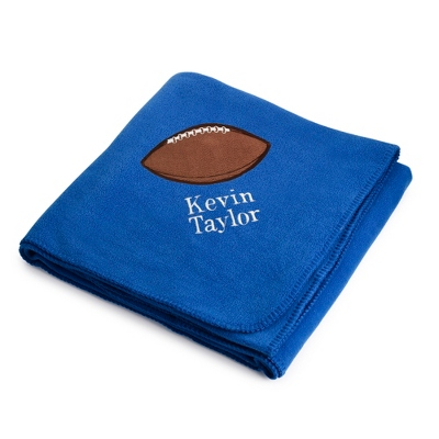 Personalized Football Design on Royal Fleece Blanket