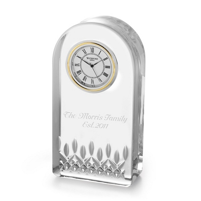 Personalized Waterford Lismore Essence Clock by Things Remembered