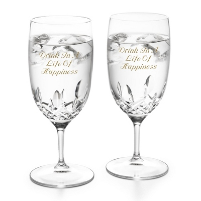 Waterford Lismore Essence Water Glass Pair - $160.00