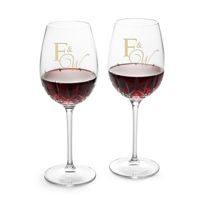 Personalized Wine Goblets for Bridal Shower