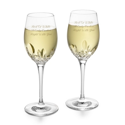 Personalized Waterford Lismore Essence White Wine Goblets