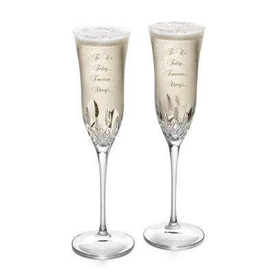 Etched Champagne Flutes Wedding