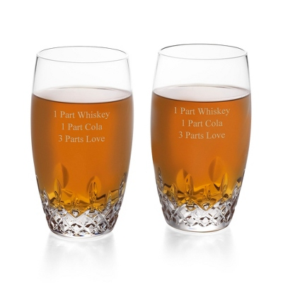Personalized Waterford Lismore Essence Highball Glass Pair