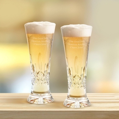 Personalized Pilsner Glasses Wedding