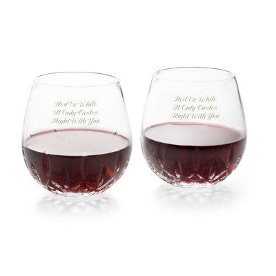 Waterford Lismore Nouveau Stemless Red Wine Pair - $110.00