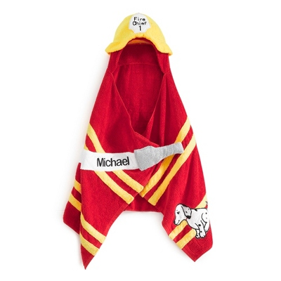 Boy's Fireman Hooded Towel