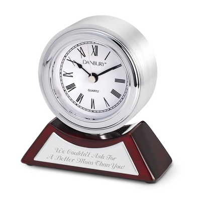 Silver Spinning Photo Clock