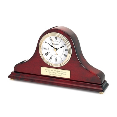 Mahogany Gold Tambour Clock - Home Clocks