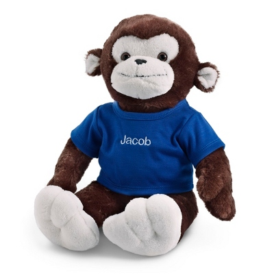 Personalized Plush Monkey with T-Shirt (Additional color T-shirts are available.)