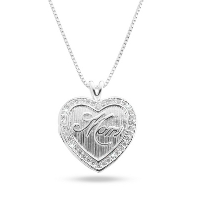 Mom Locket with complimentary Filigree Heart Box