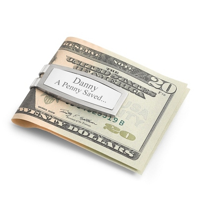 Sterling Silver and Stainless Steel Money Clip - Men's Accessories