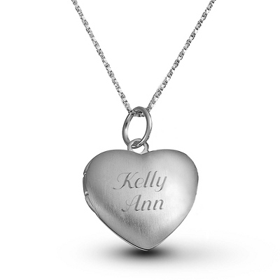 Classic Heart Locket Necklace with complimentary Filigree Keepsake Box