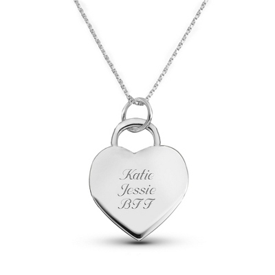 Classic Heart Charm Necklace with complimentary Filigree Keepsake Box