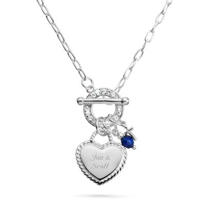 Initial Necklace with Birthstone - 8 products