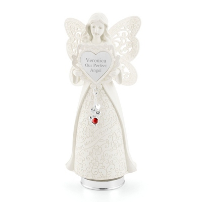 Birthstone Musical Angel Figurine - UPC 825008277205