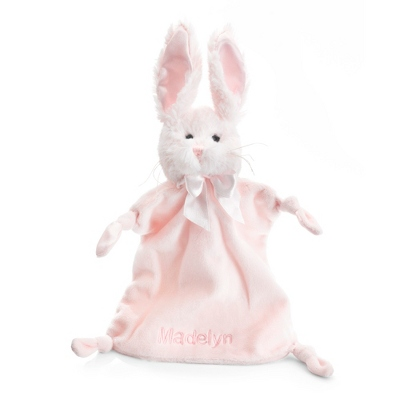 Personalized Pink Bunny Mini Blankie