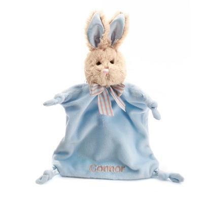 Personalized Blue Bunny Mini Blankie