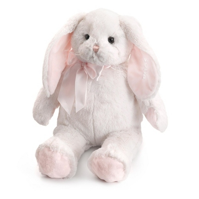 Personalized Pink Plush Bunny