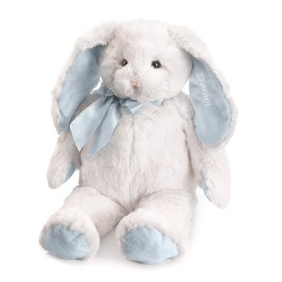 Personalized Blue Plush Bunny