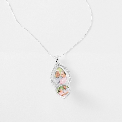 Sterling Silver Teardrop Locket with complimentary Filigree Keepsake Box - UPC 825008278219