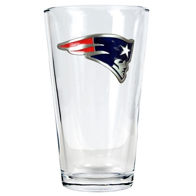 New England Patriots Pint Glass - UPC 825008278912