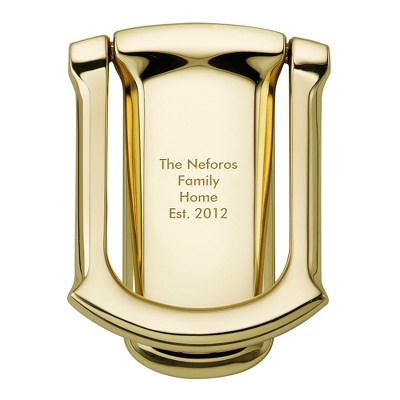 Personalized Brass Door Knockers - 10 products