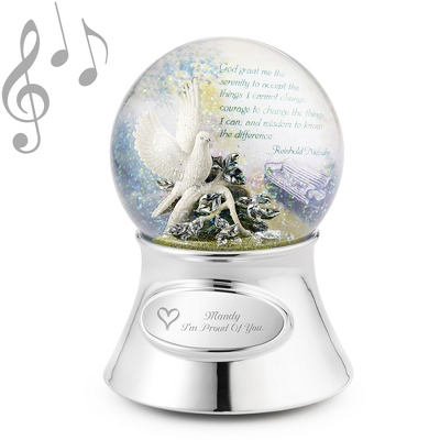 Serenity Prayer Musical Water Globe