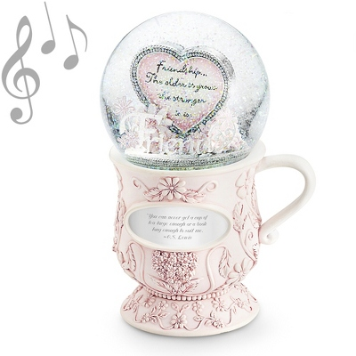 Tea Cup Musical Water Globe