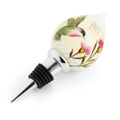 Hummingbird Hand-painted Wine Stopper
