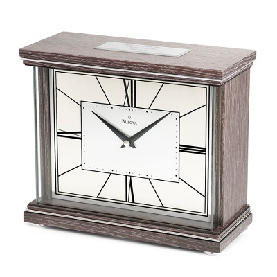 Bulova Engraved Mantel Clocks