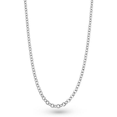 Men's Cable Chain Necklace with complimentary Tri Tone Valet Box